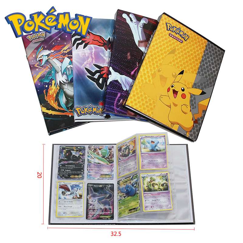 Pokemon 160pcs Cards Holder Album Toys For Children Collection Album Book Playing Trading Card Game Pokemon