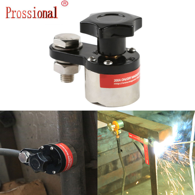 Heißer verkauf Kleine Größe Neodym Magnet Magnetische Schweißen Boden Clamp Erdung Magnet Anschluss für Schweißen Maschine-in Handwerkzeug-Sets aus Werkzeug bei
