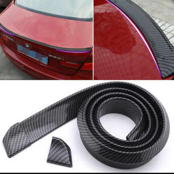 M3 M4 Z4 E90 E92 E46 F30 F32 F10 F80 F82 Rubber Carbon Fiber Car-styling Rear lip Spoiler Roof Wing for BMW Any Car image