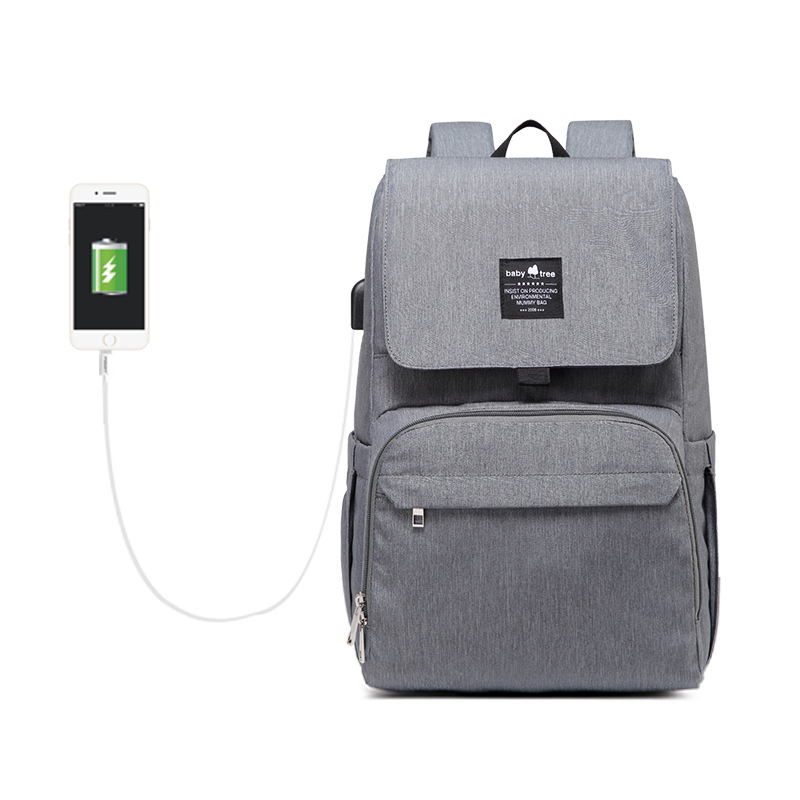 Fashion Mummy Maternity Bag Multifunctional Large Capacity Diaper Bag With USB Light Travel Backpack For Mom Waterproof Stroller Baby Bag Hanimom