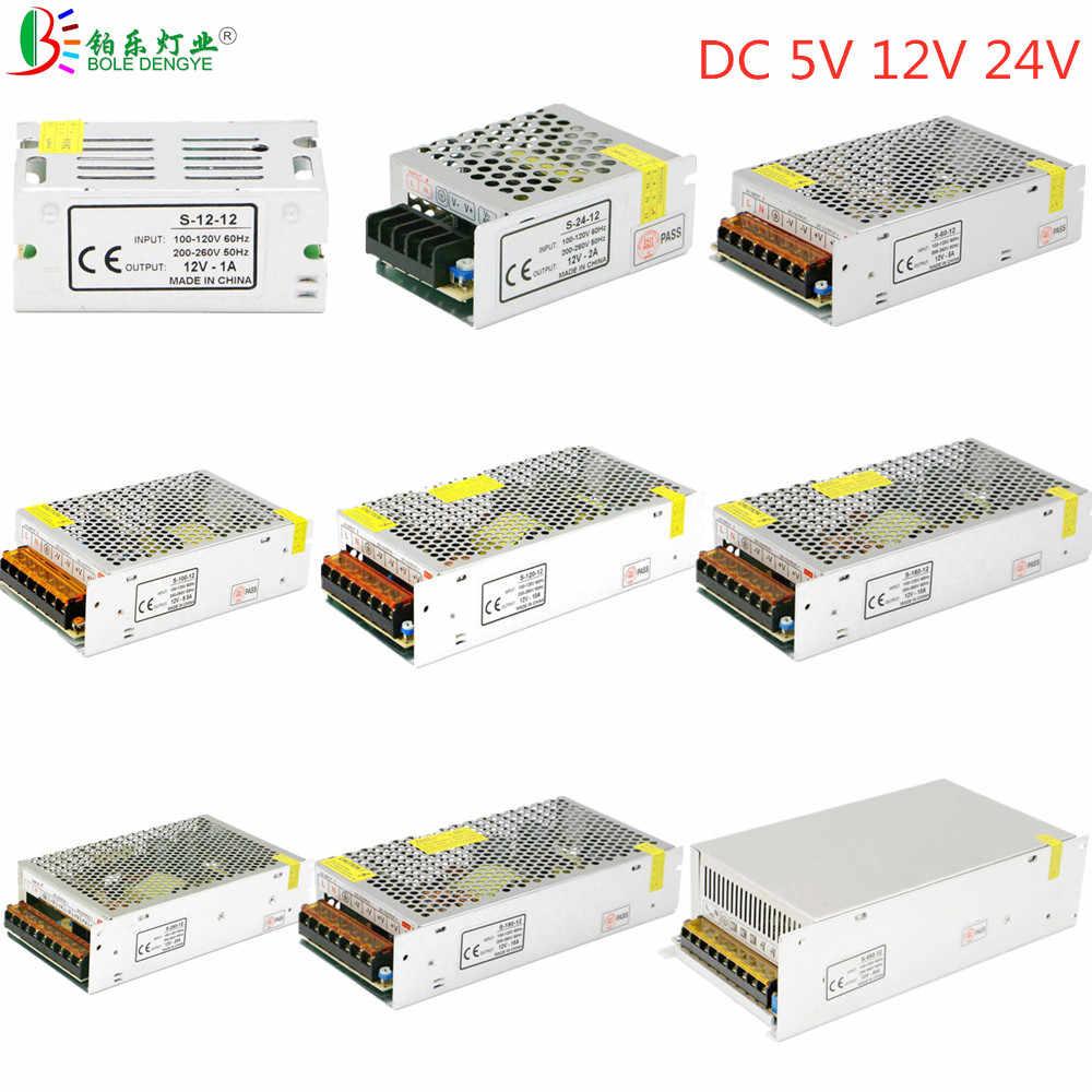 Fuente de alimentación conmutada, CA 110V 220V a cc 5V 12V 24V, adaptador de corriente 1A 2A 3A 5A 10A 15A 20A 30A, Controlador LED de transformador de iluminación
