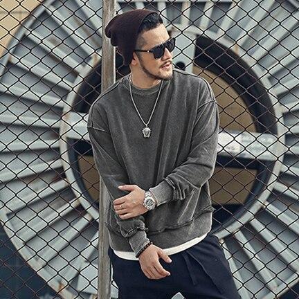 2019 Autumn New Hoodies Men Casual Minimalist Sweatshirt O-neck Embroidery Logo Plus Size Basic Pullover Wt921