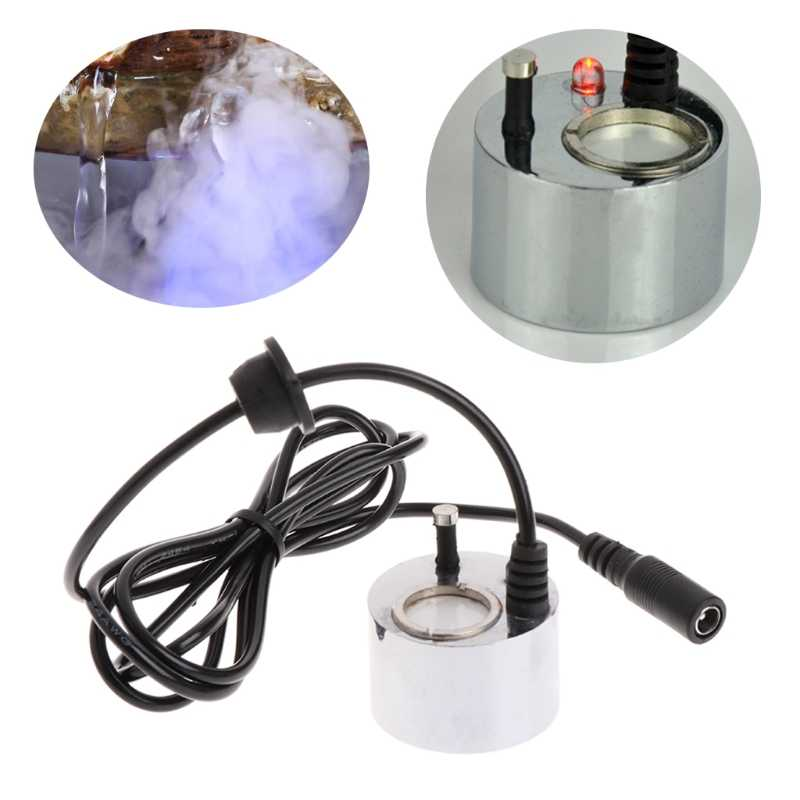 LED Colorful Light Ultrasonic Mist Maker Fogger Water Fountain Pond Decoration Q1QC