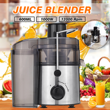 1000W 220V Stainless Steel Juicers 2 Speed Electric Juice Extractor Household Fruit Vegetables Drinking Machine for Home Kitchen