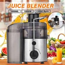 Exprimidores eléctricos de acero inoxidable, Extractor de zumo de 1000W y 220V, 2 velocidades, máquina para beber frutas y verduras para el hogar y la cocina