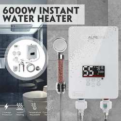 6000W 220V Mini Instant Electric Tankless Hot Water Heater Shower Kitchen Faucet Bathroom Shower Instantaneous Water Heater