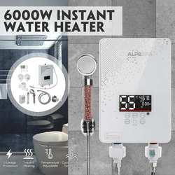 6000W 220V Mini Instant Elektrische Tankless Heizung Dusche Küche Wasserhahn Bad Dusche Durchlauferhitzer