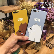 3D cute cartoon brown bear mobile phone case for iPhone 7 8 6 6s plus soft silicone X XS XR MAX