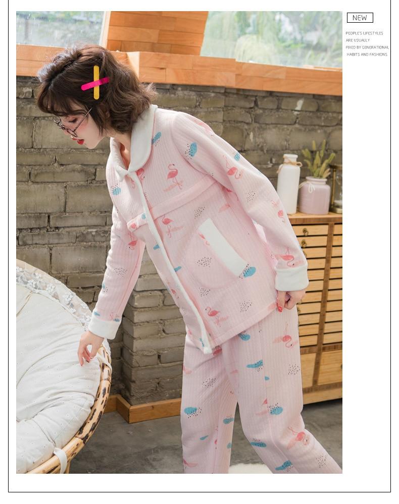 2 pçs sets maternidade enfermagem pijamas pijamas
