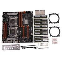 X79 Dual CPU LGA2011 Motherboard Set with Dual Intel E5 2689 4x8GB 32G 1600Mhz DDR3 ECC Support M.2 NVMe SATA3 USB3.0