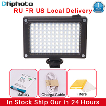 Ulanzi 96 LED Video Light with Battery Filters Hotshoe Photo Lighting on Camera for Canon Nikon Sony Camcorder DV DSLR