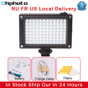 Image 1 - Ulanzi 96 LED Video Light with Battery Filters Hotshoe Photo Lighting on Camera for Canon Nikon Sony Camcorder DV DSLR