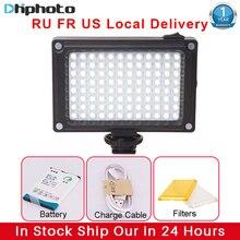Ulanzi 96 LED lampa wideo z filtrami baterii Hotshoe oświetlenie fotograficzne w aparacie Canon Nikon Sony kamera DV DSLR