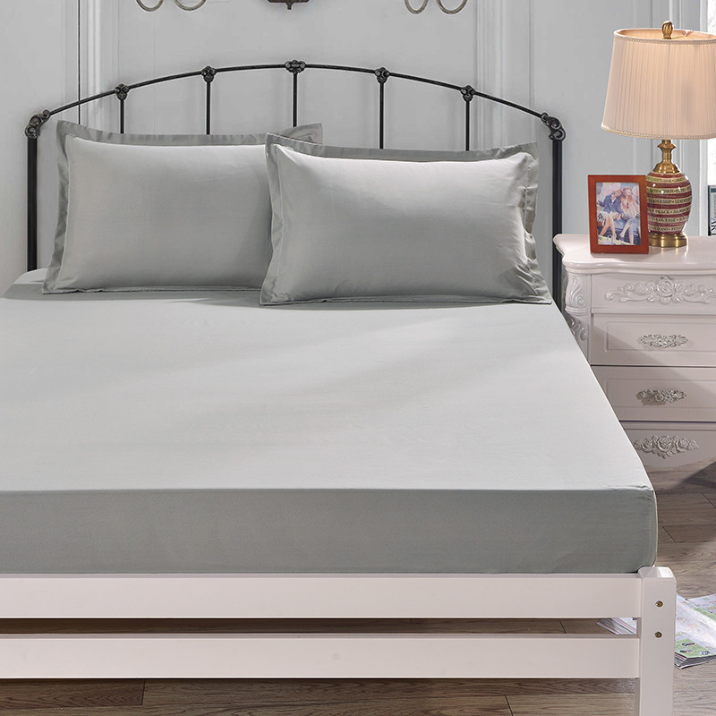 Bed Sheet with Pillowcase pure colour Bed Linen Queen Size Mattress Covers Fitted Sheet Sets With Elastic For King Size in Sheet from Home Garden