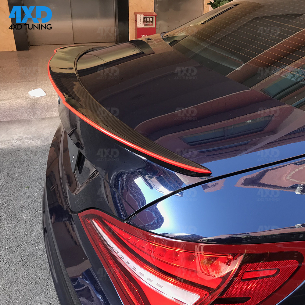 W117 Carbon Fiber Trunk Spoiler For Mercedes CLA AMG C117 Rear - Auto Replacement Parts - Photo 4
