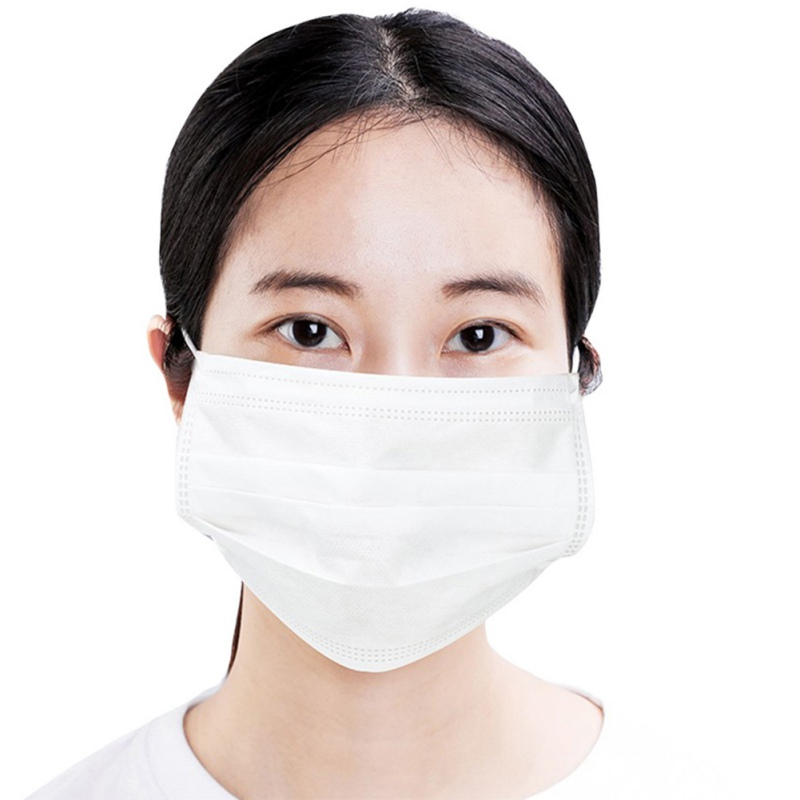 Image 2 - 100pcs Medical Face Masks Disposable Anti Dust Mask 3 layers Non  woven Filter Earloops Breathable Face Mask Protective Masks  -