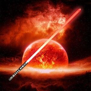 Image 1 - 16 RGB 컬러 Lightsaber USB 충전 Jedi Sith Luke 포스 라이트 세이버 사운드 메탈 핸들 칼 빛나는 장난감 어린이 선물