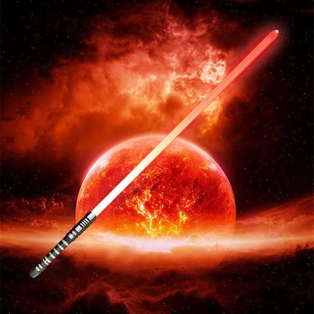 16 RGB 컬러 Lightsaber USB 충전 Jedi Sith Luke 포스 라이트 세이버 사운드 메탈 핸들 칼 빛나는 장난감 어린이 선물
