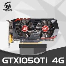 بطاقة الفيديو GTX1050Ti للكمبيوتر بطاقة الرسومات PCI E GTX1050Ti GPU 4G 128Bit DDR5 ل nVIDIA Geforce لعبة HDMI DP