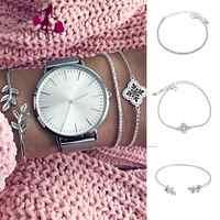 Punk Adjustable Leaf Bangle Cuff Bracelets Hollow Casual, Party, Wedding, etc. Leaves Chain Bracelets Jewelry