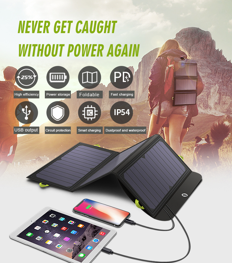 ALLPOWERS 5V 21W Built-in 10000mAh Battery Portable Solar Charger for Mobile Phone