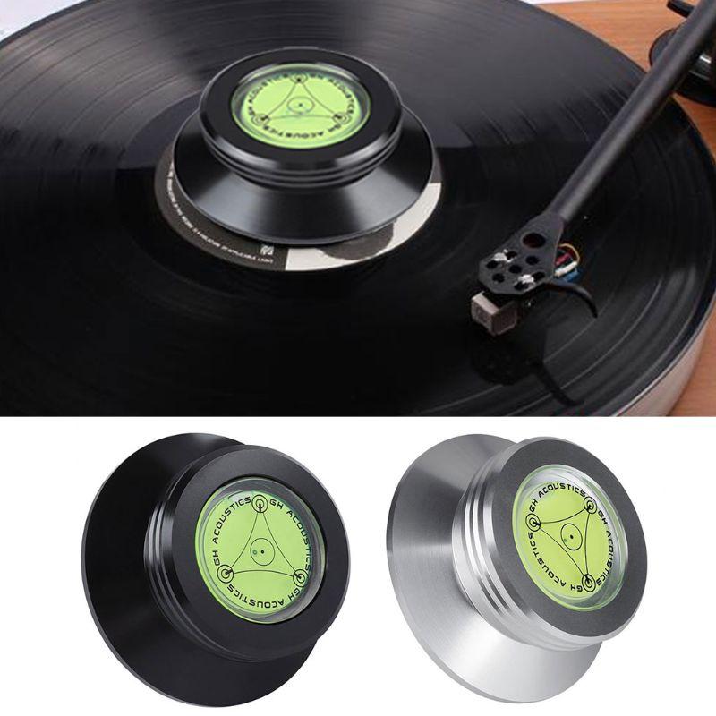 Elvon aluminum LP Vinyl Turntables Metal Disc Stabilizer Record Weight//Clamp