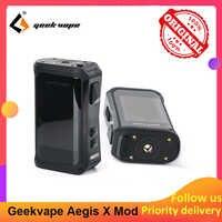 Geekvape Aegis X 200W Box Mod con 2.0 chipset Alimentato da Dual 18650 batterie e cigs Senza Batteria vs Aegis Leggenda