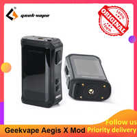 Geekvape Aegis X 200W Box Mod with AS 2.0 chipset Powered by Dual 18650 batteries e cigs No Battery vs Aegis Legend