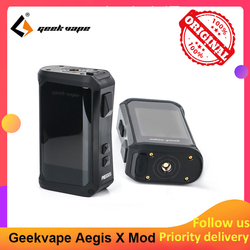 Geekvape Aegis X 200W caja Mod con 2,0 chipset alimentado por Dual 18650 e cigs No batería del Aegis leyenda
