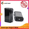 Geekvape auspicios X 200W caja Mod con 2,0 chipset alimentado por Dual 18650 e cigs No batería del Aegis leyenda