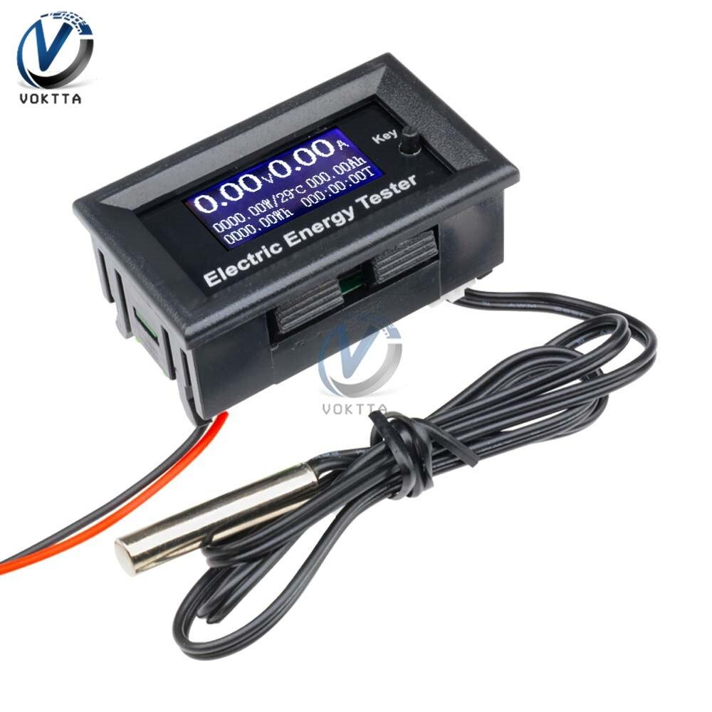 DC 120V 20A Voltmeter Ammeter Power Energy Tester LCD Digital Display Wattmeter Capacity Indicator Multifunction Monitor