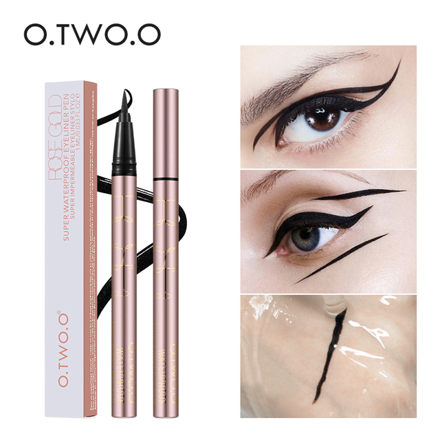 O.TWO.O 3pcs Eyes Makeup Set Ultra Fine 1.5mm Eyebrow Lengthening Mascara Long Lasting Waterproof Eyeliner Cosmetic Kit 2