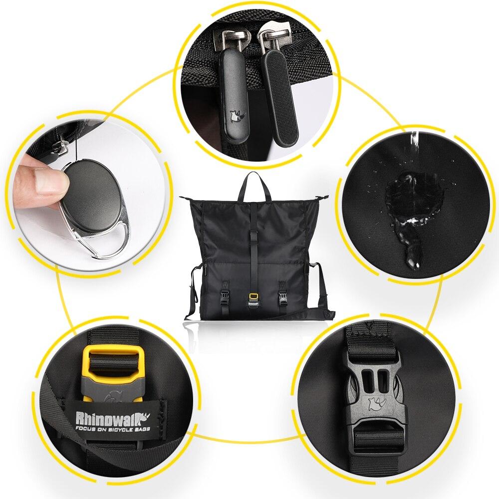 Купить с кэшбэком Rhinowalk Bicycle Bags Saddle Rear Bag Waterproof Travel Shoulder Handbag Large Capacity Seat-post MTB Bike Bags Multi-function