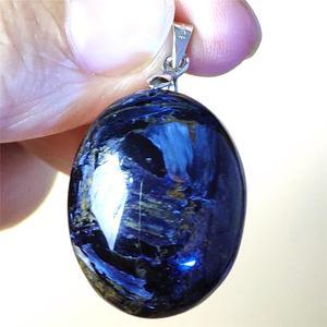 Image 1 - トップ品質の天然ブルー Pietersite 女性ペンダント 26x21x10mGemstone 誕生日ギフトハートクリスタルヒーリング変彩する AAAAA