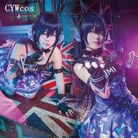 Customized Love Live Cosplay Games Cyber Light Up Cosplay Costume Women Dress All Member Eli Nozomi Maki Nico Cos Shinning Dress