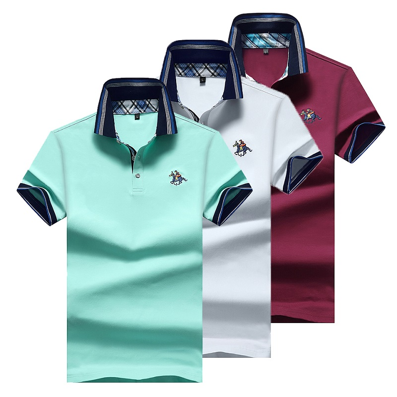 High Quality Solid color 3D Embroidery Polo Shirt Casual Polo Shirts men's Short sleeve polo shirt 2020 New Arrival polosshirt Men Men's Clothings Men's Polo Shirts Men's Tops cb5feb1b7314637725a2e7: DarkRed|NavyBlue|SkyBlue|gray|White|YELLOW