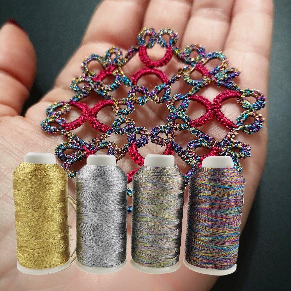 Metallic Weaving thread Shiny Effect Jewellery Threads Gold DIY Crafts Bracelet String Strap Cross Stitch Weave Yarn NEW TH00036