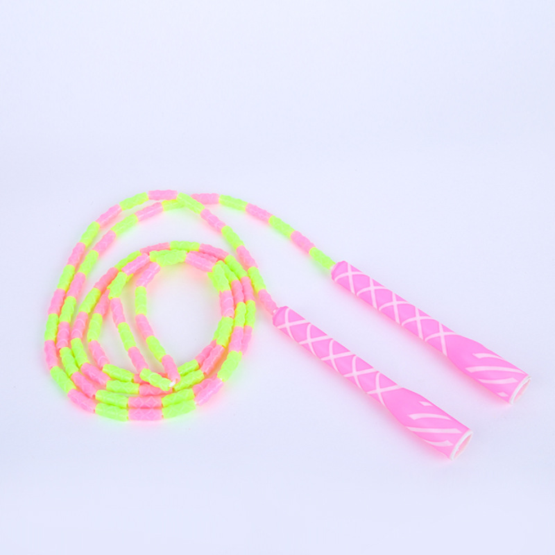 PVC Figure Hundred Section Jump Rope Household Pattern Beads Jump Rope Outdoor Fitness Equipment