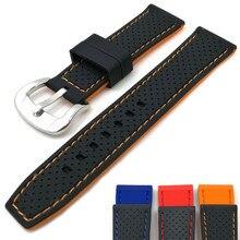 2020 novo E Elegante Relógio De Borracha Correia 20mm 22mm 24mm faixa de Relógio Genérico para Samsung galaxy relógio para engrenagem s3 À Prova D' Água Pulseira