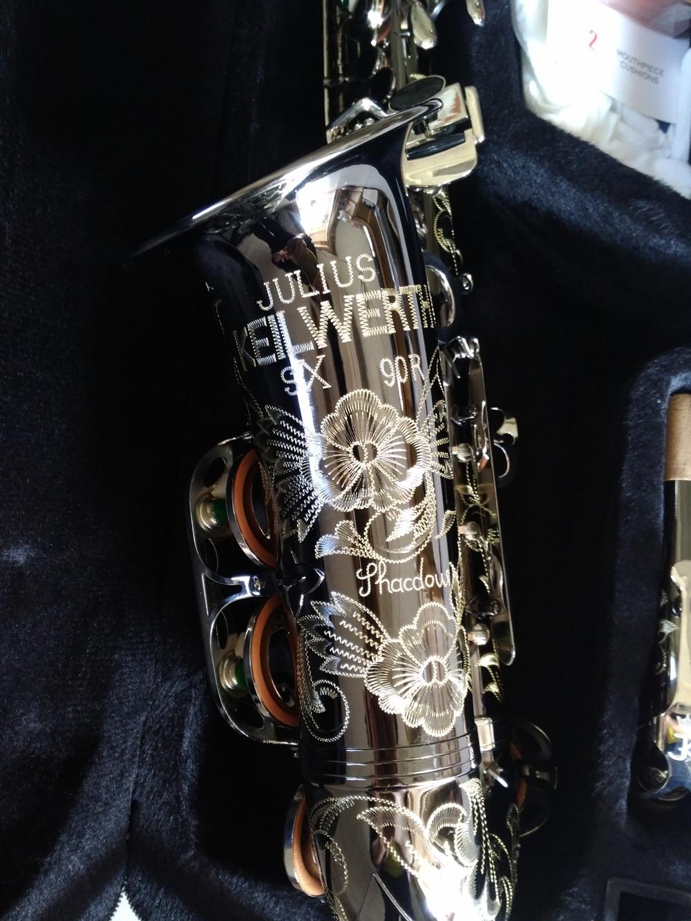Альт-саксофон Keilwerth, копия немецкого JK SX90R, настоящая картина, черный профессиональный музыкальный инструмент NickeI с мундштуком Sax 4