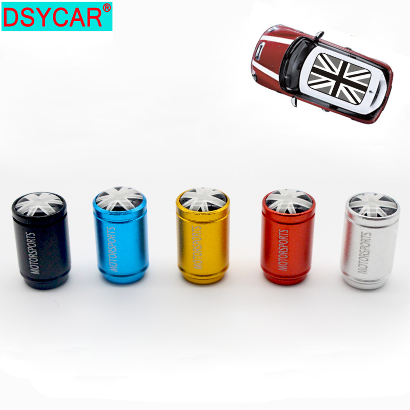 DSYCAR 4pcs/lot Bike Moto Car Tires Wheel Tyre Rim Valve Caps Dust Cover Car Styling For Fiat Audi Ford Bmw Mini VW Car Lada