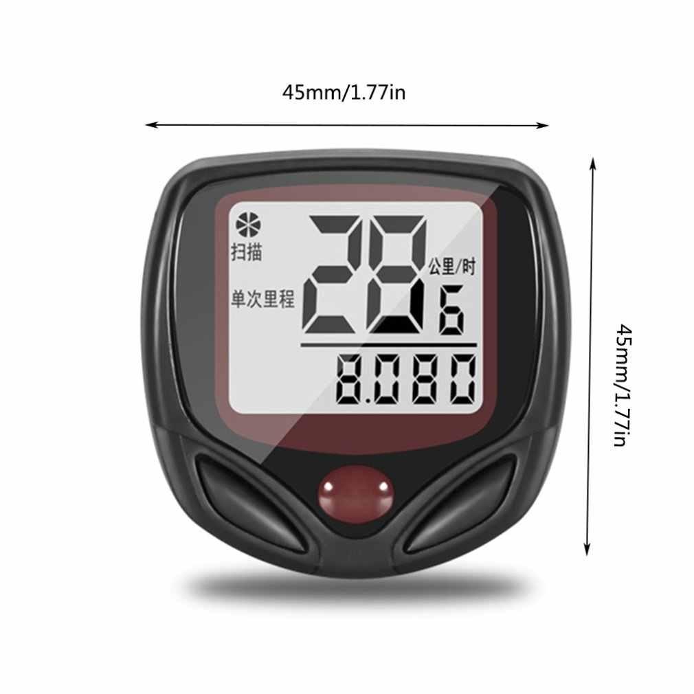 ワイヤレスサイクリングサイクル自転車バイク心拍数モニタースピードメーター走行距離とカロリーカウンター