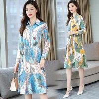 Beach Bohemian Summer Korean Dress Tshirt Dress Long Sleeve Chiffon Blue Gray Red Yellow Plus Size Woman Ladies Dresses