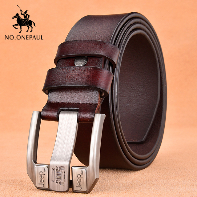 Genuine Leather High Quality Black Buckle Jeans Cowskin Casual Business Belt Cowboy waistband 2