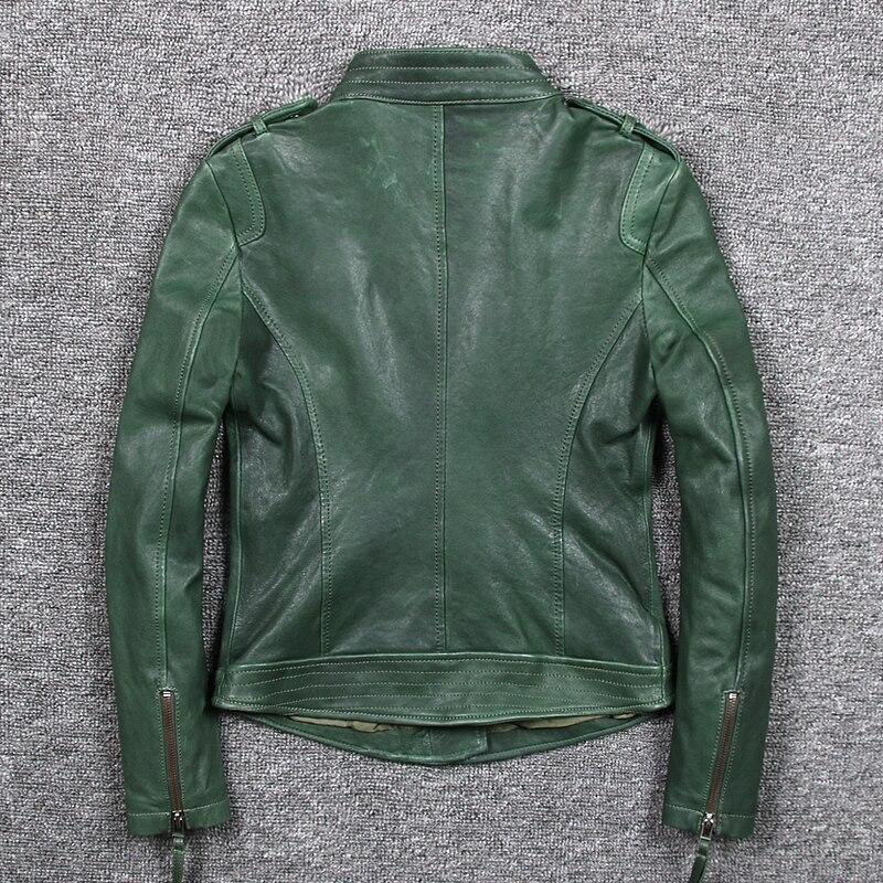 Geniune Jacket Sheepskin Leather Jackets For Women Motocycle Spring Autumn Coat Jaqueta De Couro 1620 MF119