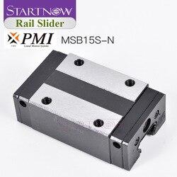 Oryginalny tajwan PMI MSB15S N suwak blok prowadnica liniowa wózek dla CNC Router maszyna laserowa części urządzeń drukarki 3D|Prowadnice liniowe|Majsterkowanie -