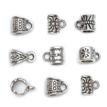 50Pcs/Bag Antique Silver Tibetan Beads Charms Big Hole Cup Shaped Beads for Jewelry Making DIY Craft handmade 925 silver om beads jewelry findings tibetan om mani padme hum words beads om mantra beads tibetan jewelry beads