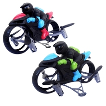 Mini Fixed Height Drone Land-Air Dual Mode Motorcycle Quadcopter Children Remote