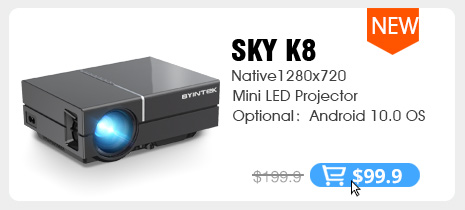 BYINTEK C520 HD 150inch Home Theater Portable LED Video Mini Projector(Optional Android 10 TV Box) for Phone 1080P 3D 4K