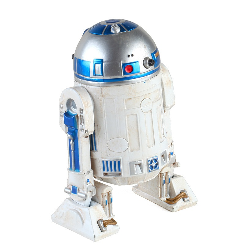 Star Wars R2D2 Robot Movable All Alloy Do The Old Ver Action Figure Toys Anime Figure Collections Gifts For Children X4775 image